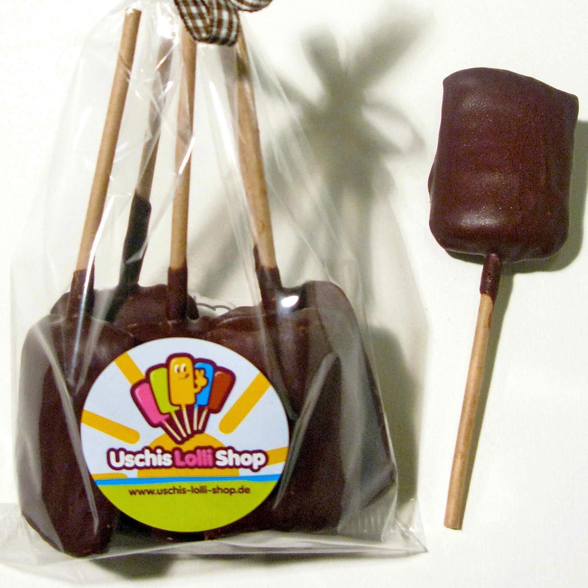 Lollis Salmiak Zartbitter Schokolade Uschis-Lolli-Shop